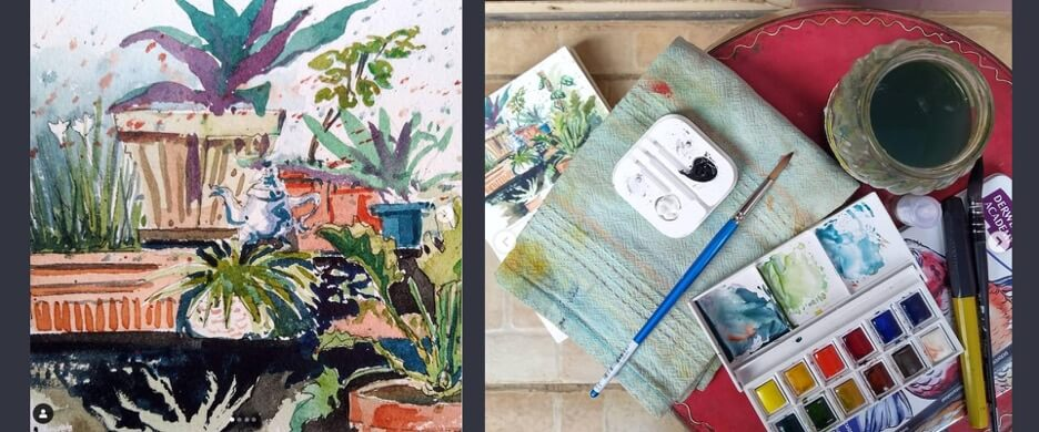 Painting With W&n Cotman