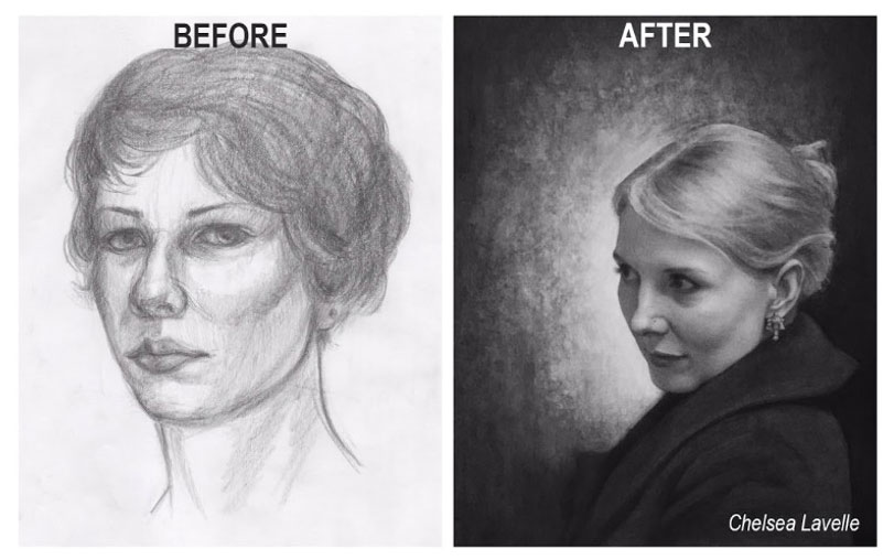 Before And After Student Drawing Improvement