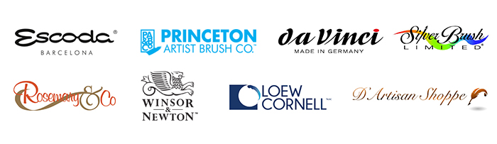 Watercolor Brush Brands Logos