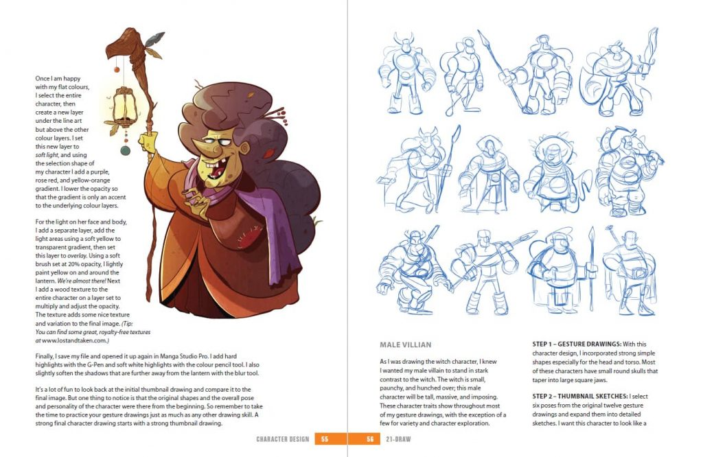 character designer tips in the 21 draw book