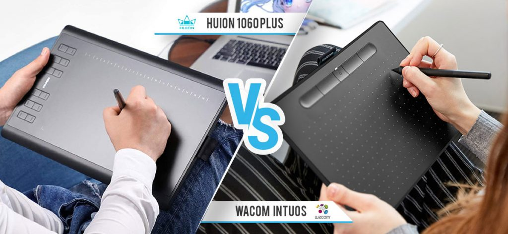 Huion 1060p And Wacom Intuos Comparison