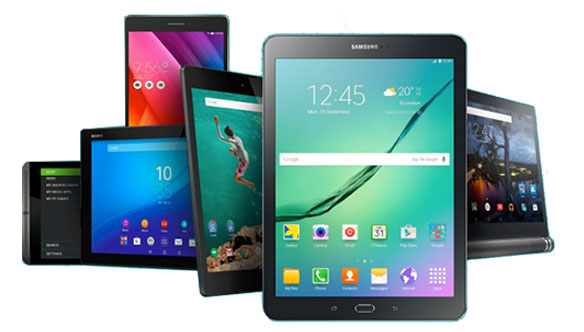 Variety Of Android Tablets