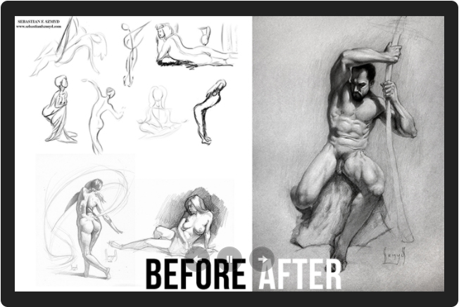 Proko Figure Drawing Student Work