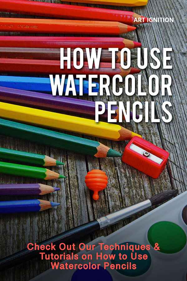 how to use watercolor pencil pinterest pin