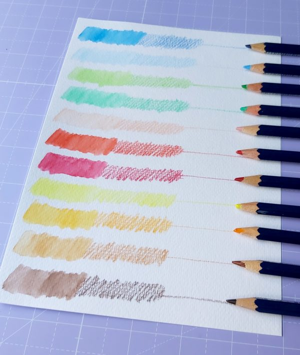 sample color chart for dry and wet shades